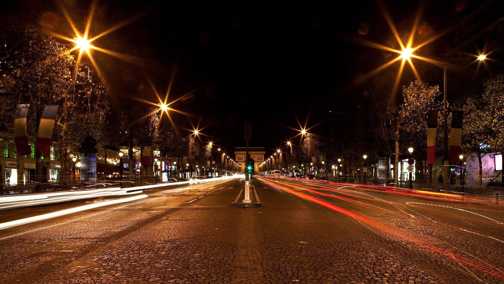 1920x1080 1920x1080 Wallpaper Germany Street Gates Night City Lights Night City City Road Street