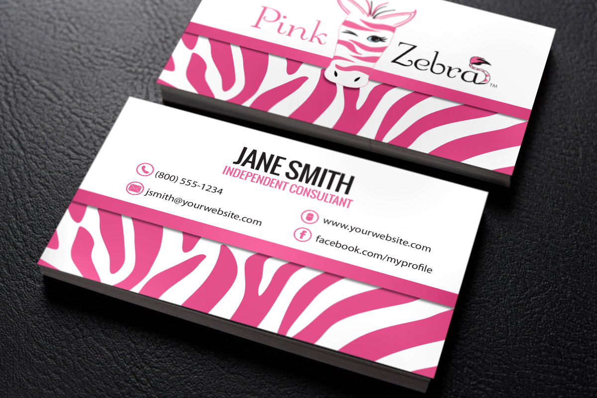 Pin On Pink Zebra Business Cards