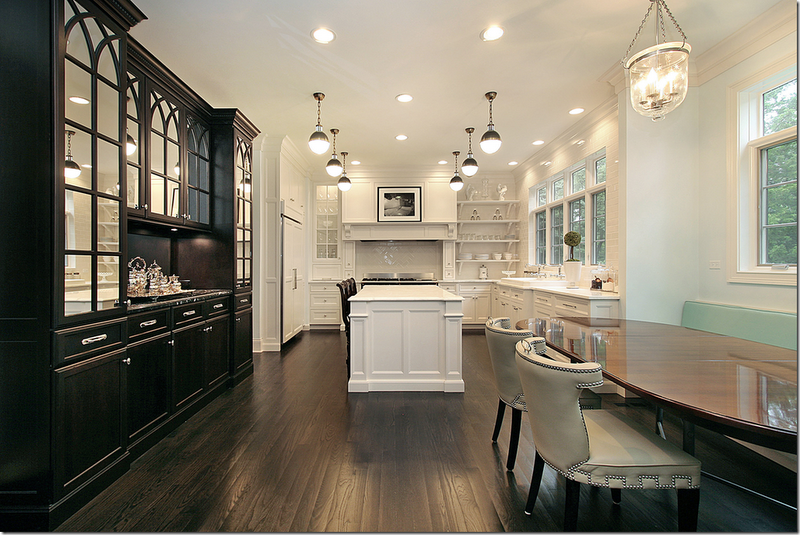 French Bistro Inspired Black and White Kitchen