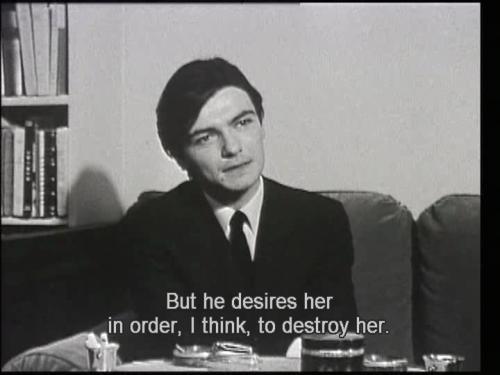 François Lafarge in Un metteur en ordre: Robert Bresson, a TV program devoted to Bresson's film Au hasard Balthazar.