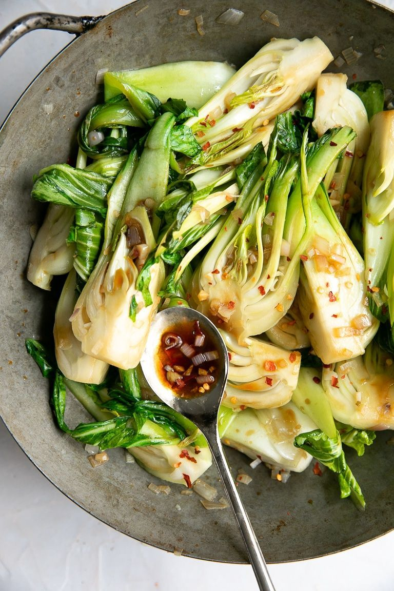 10 Minute Garlic Bok Choy Recipe - The Forked Spoo