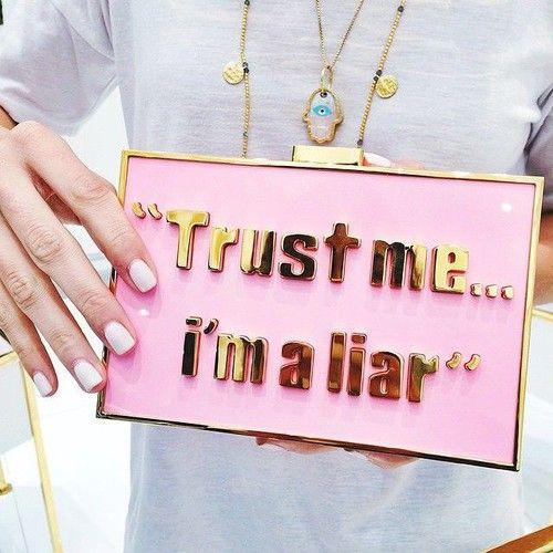 Imagem de Liars, pink, and trust