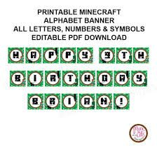 Image Result For Free Printable Minecraft Letters