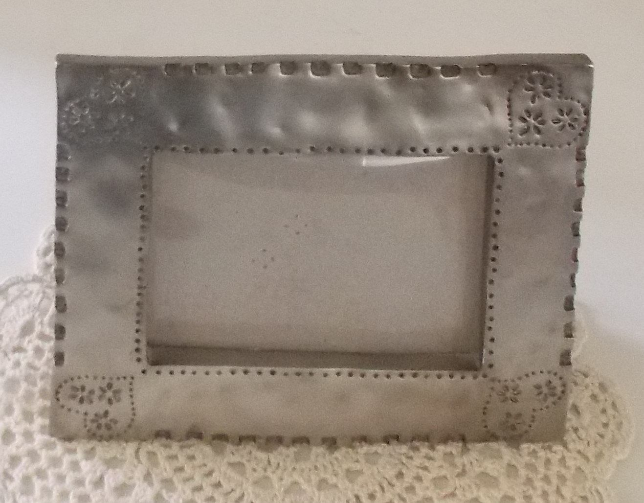 vintage silver photo frame 3 12 x 5 metal frame