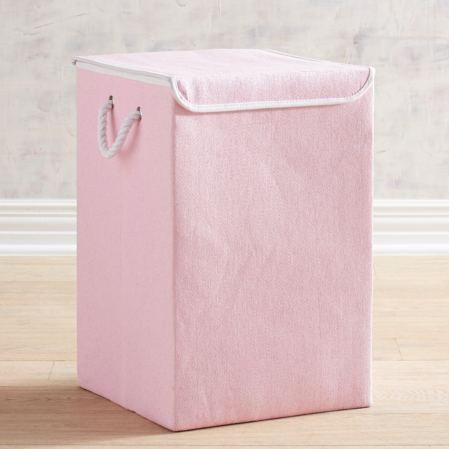 Clementine Pale Pink Laundry Hamper With Lid With Images