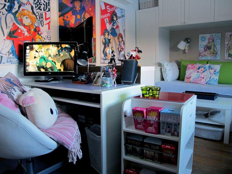 looks like ikea designed an otaku room