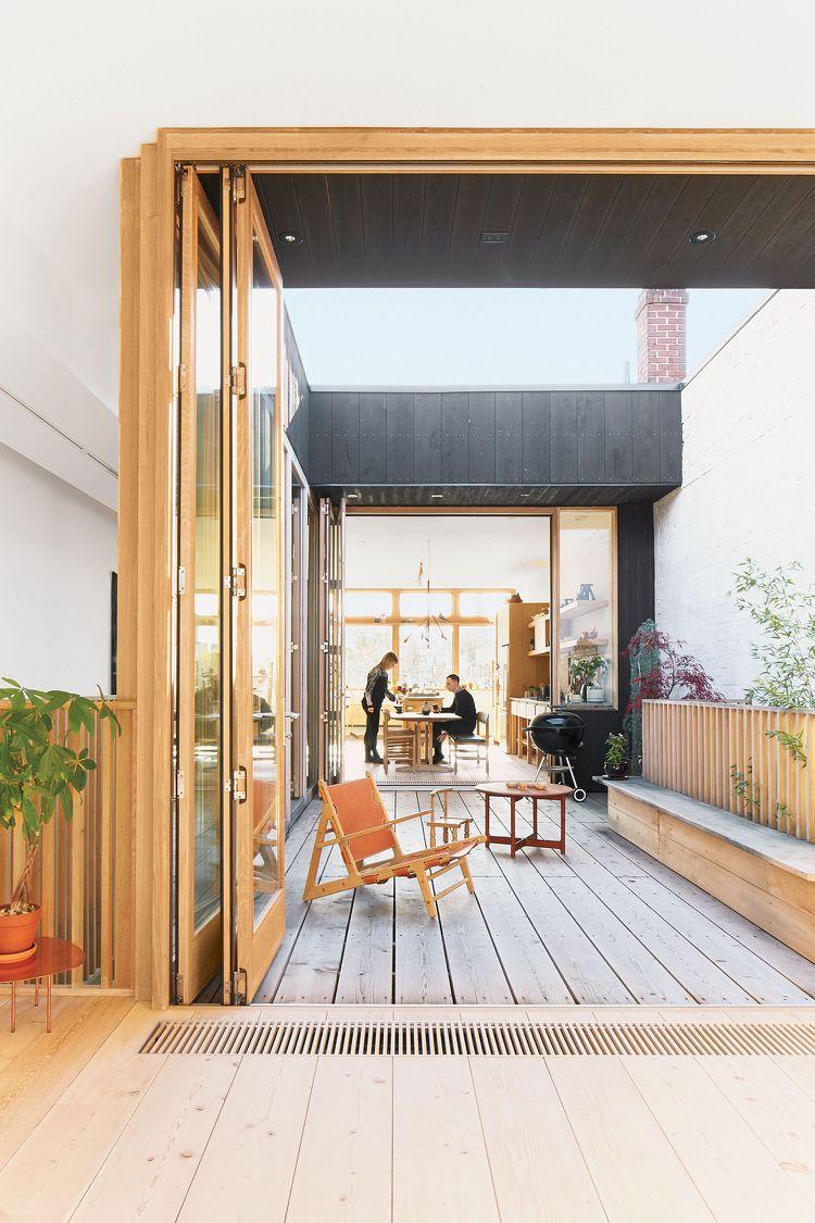 moderne terrasse mit den wohnraum nahtlos gebunden und. Black Bedroom Furniture Sets. Home Design Ideas