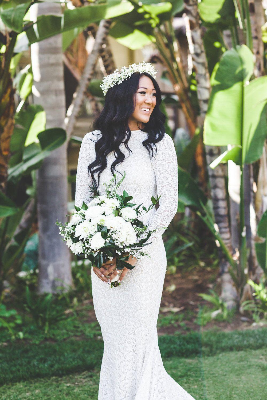 Green White Bridal Bouquet By San Diego Wedding Florist Compass