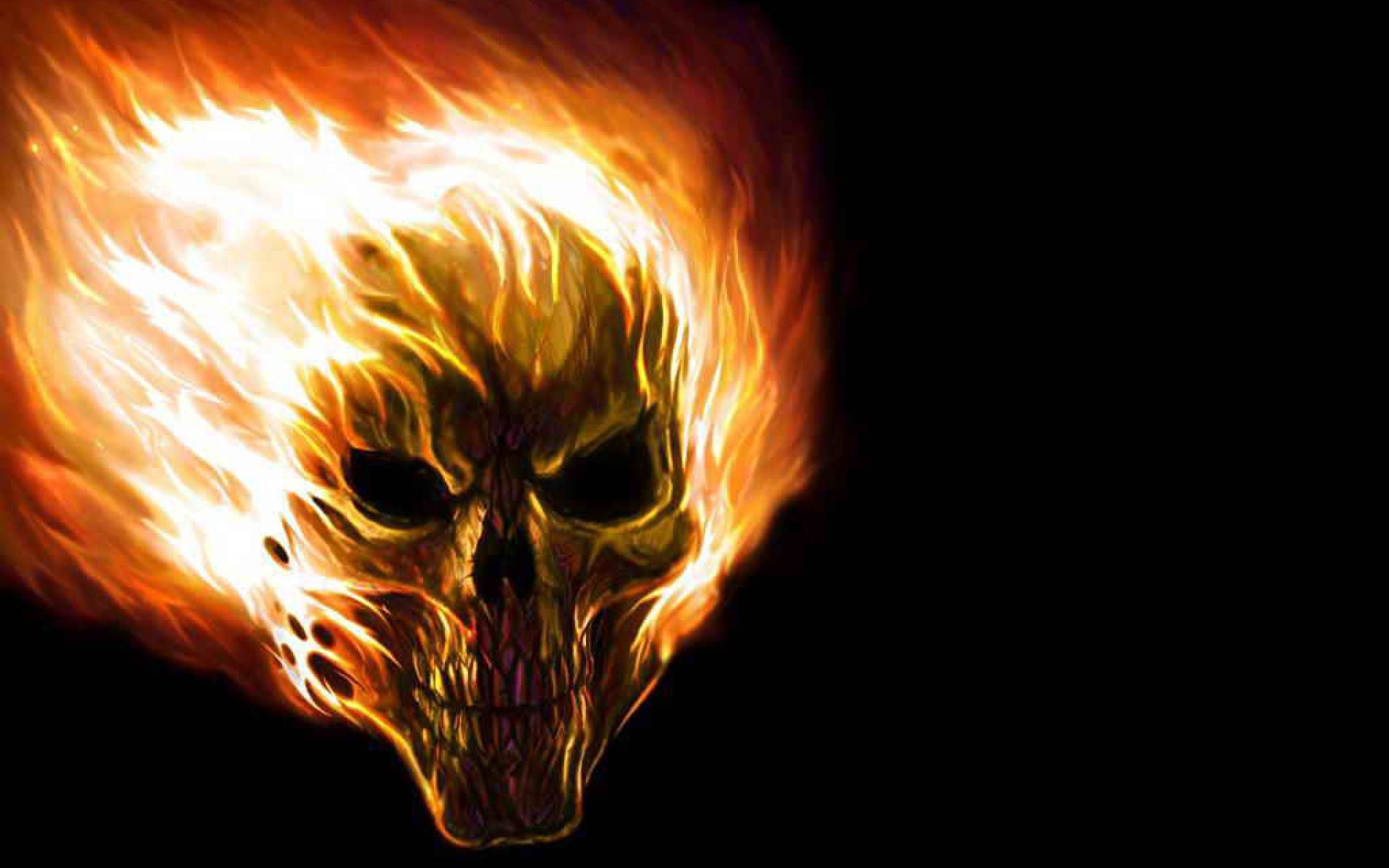 Mythical Flaming Skull #Awesome #cool #Fantasy #Flaming #Imagination #Mythical #