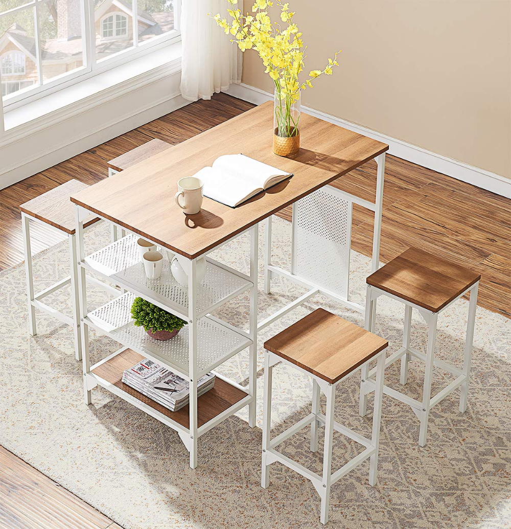 Amazon Com O K Furniture 5 Piece Dining Room Bar Table Set