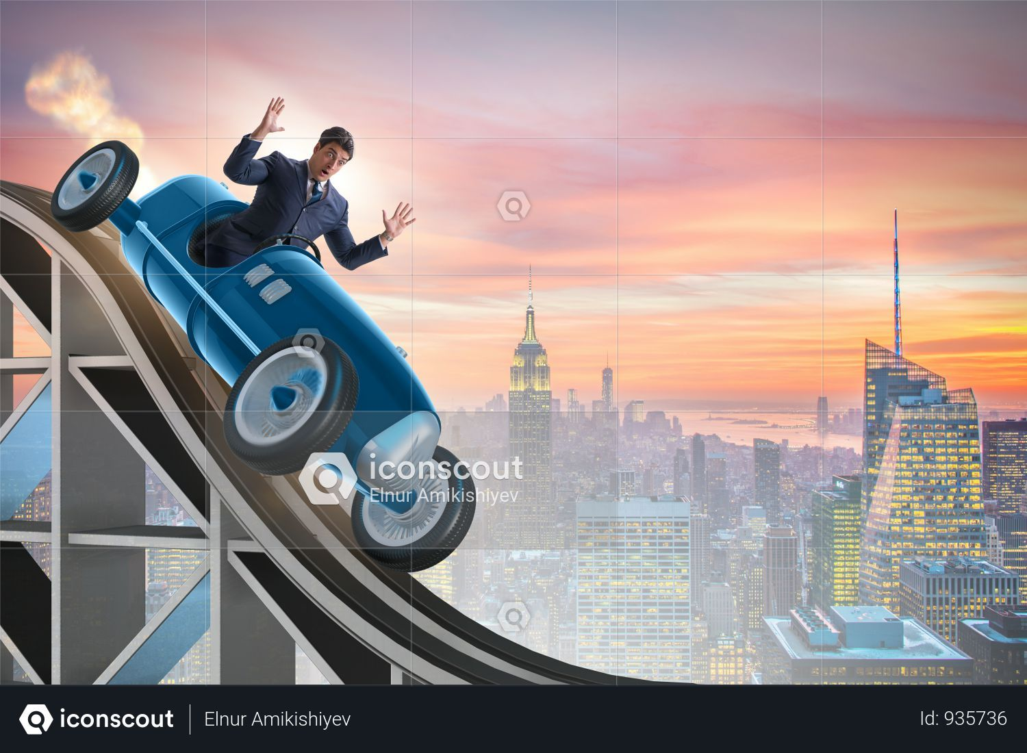 Premium Businessman Driving Sports Car On Roller Coaster Photo Download In Png Jpg Format Sports Car Roller Coaster Photo