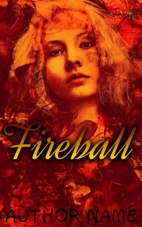 fireball book cover design psd template custom e book cover