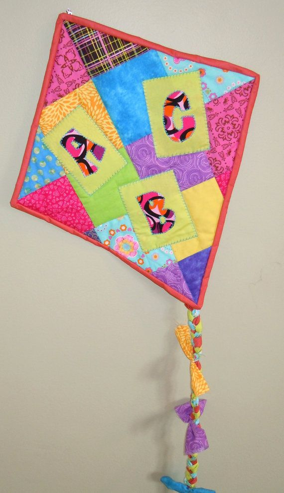 ABC Children's Quilted Wall Kite by SewMyGosh1 on Etsy, $40.00