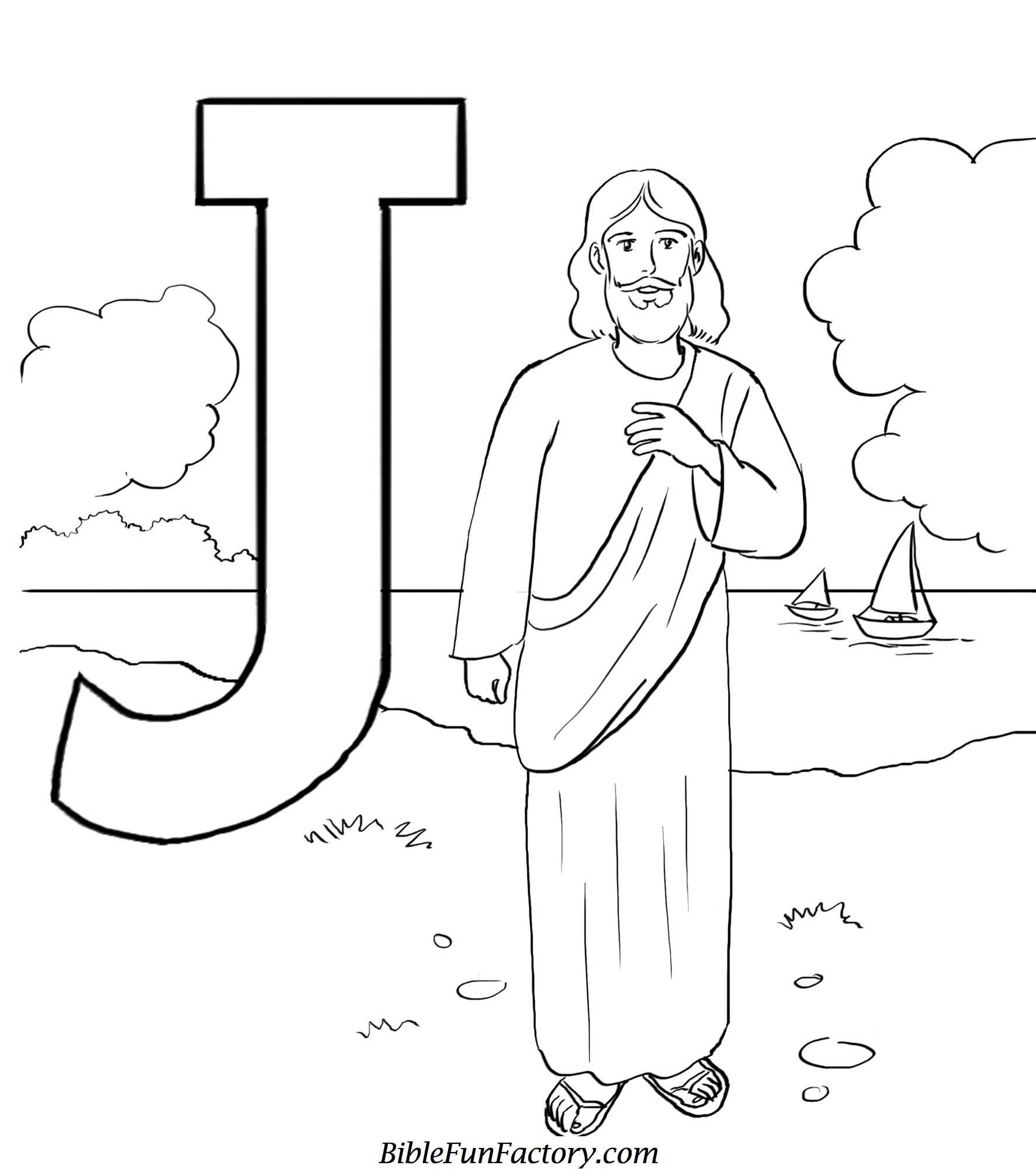 Get The Latest Free J For Jesus Coloring Page Images Favorite Pages To Print Online By ONLY COLORING