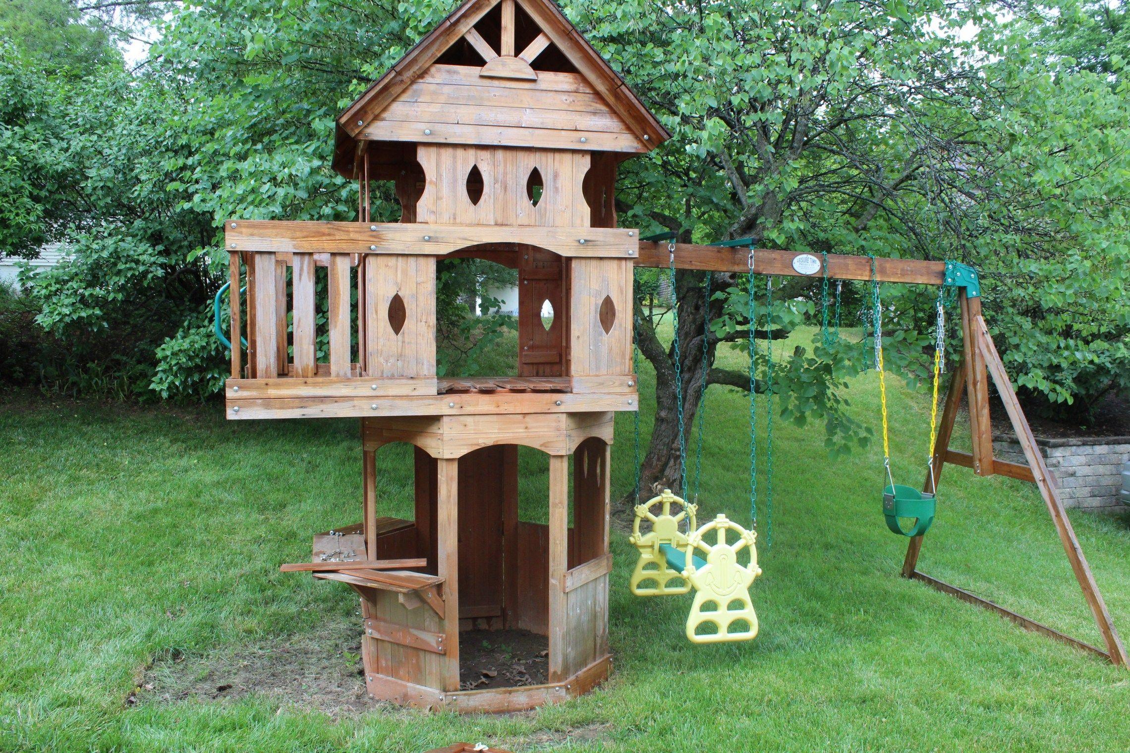 DIY Swingset Makeover   Diy, Outdoor decor, Ikea built in