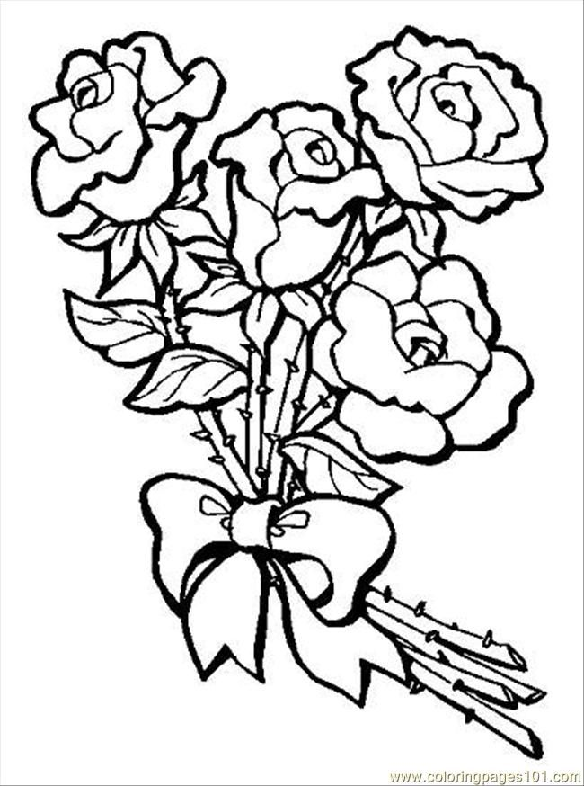 Bouquet Of Roses Coloring Pages S Bouquet Of Rosespreview Coloring Page Free Flowers Coloring Flower Coloring Pages Free Coloring Pictures Rose Coloring Pages
