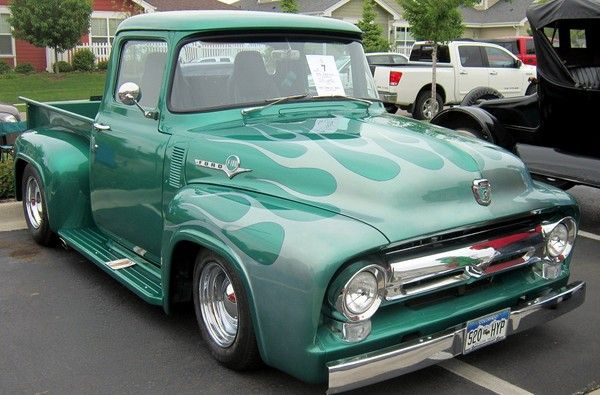 nice mild custom ford f100 pickup at mackenzie place car show