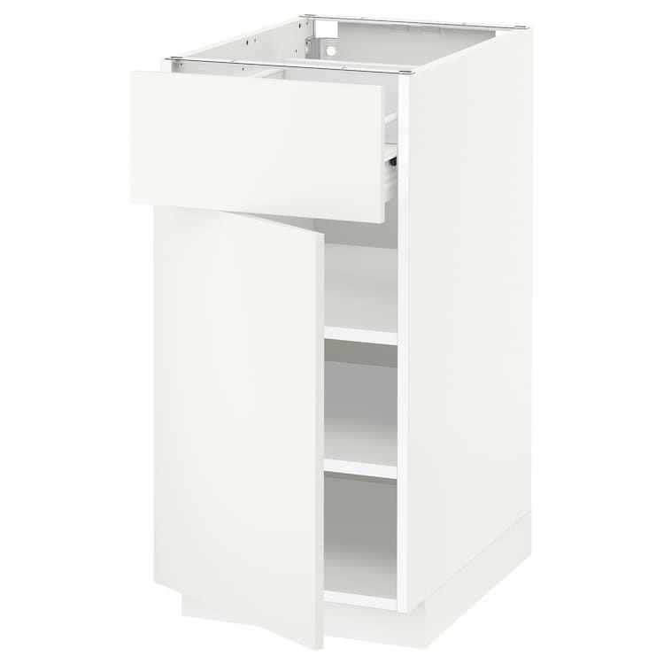 Metod Forvara Element Bas Avec Tiroir Porte Blanc Haggeby Blanc Ikea Tiroir Meuble Bas Cuisine Meuble Bas