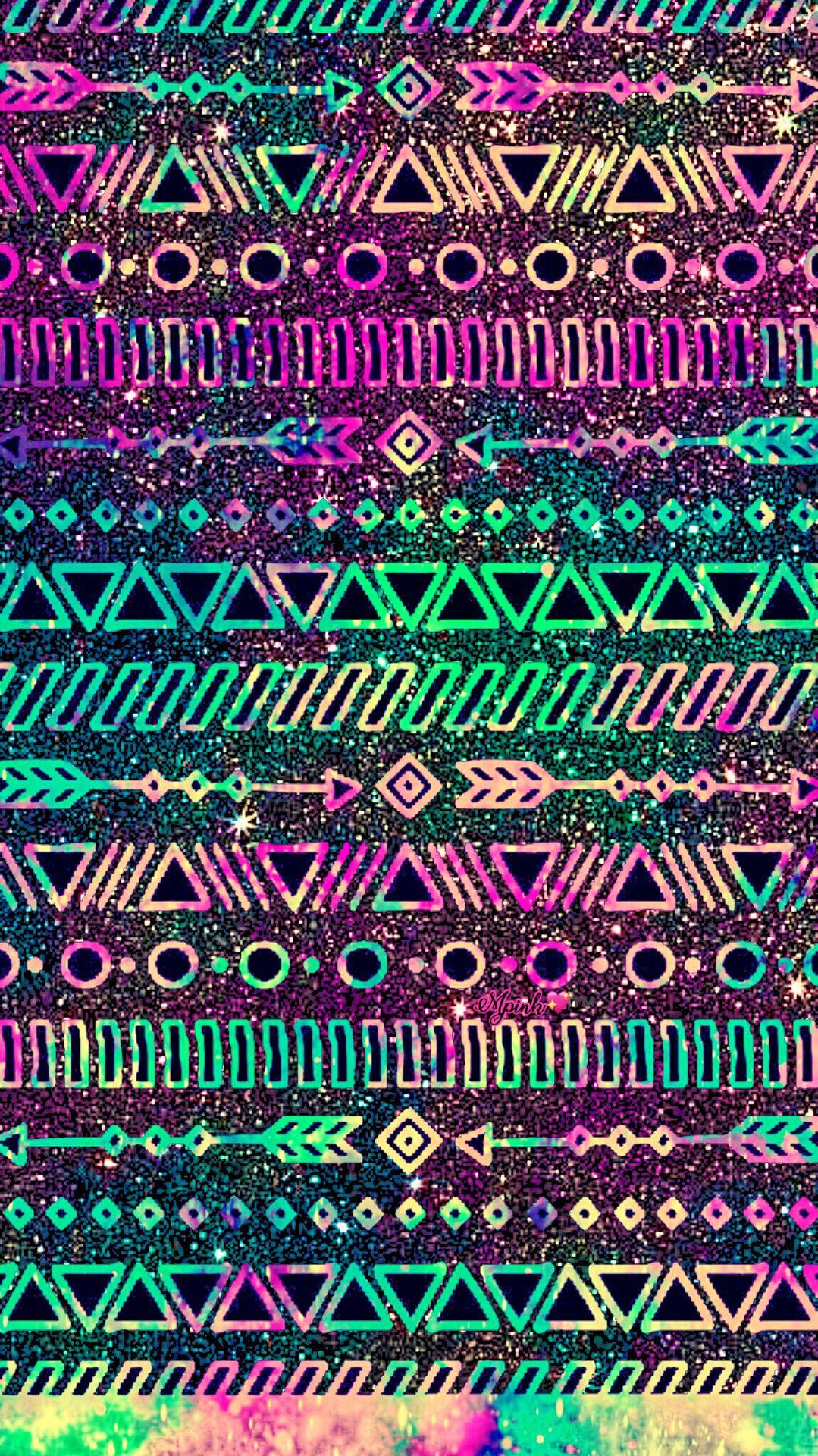Neon Tribal Wallpaper Androidwallpaper Iphonewallpaper Wallpaper Galaxy Sparkle Glitter Tribal Wallpaper Tribal Print Wallpaper Cute Wallpaper For Phone