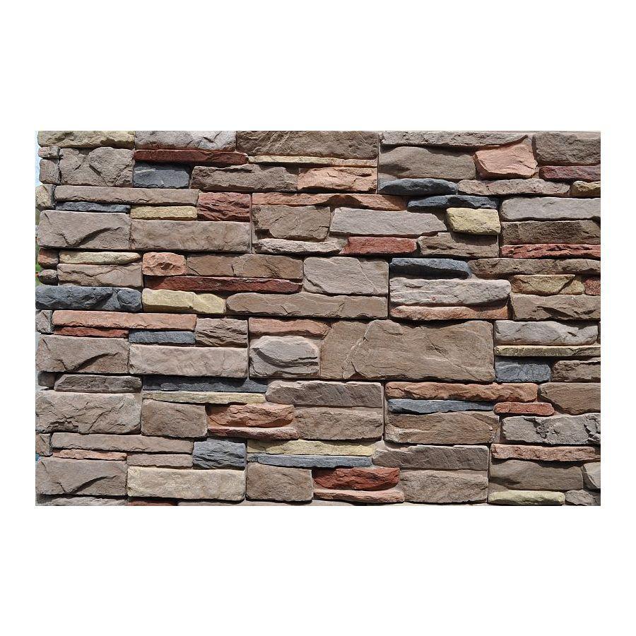 M Rock Msi Meridian Ledge 39 2 Sq Ft Brown Stone Veneer Lowes Com Stone Veneer Manufactured Stone Veneer Stone Veneer Exterior
