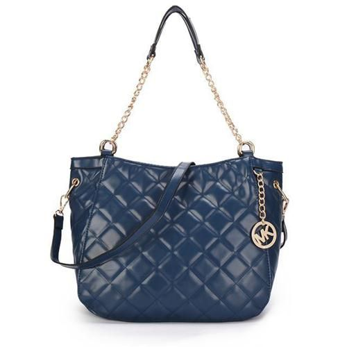 Michael Kors Quilted Large Navy Shoulder Bags Are High Quality And Cheap Price!
