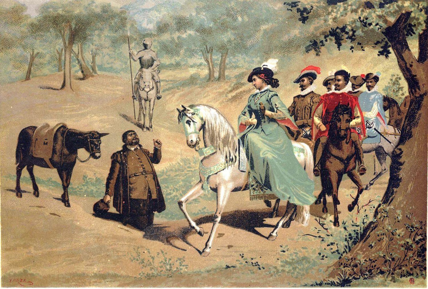 El Quijote Libro Ii Capitulo 30 La Bella Cazadora Con