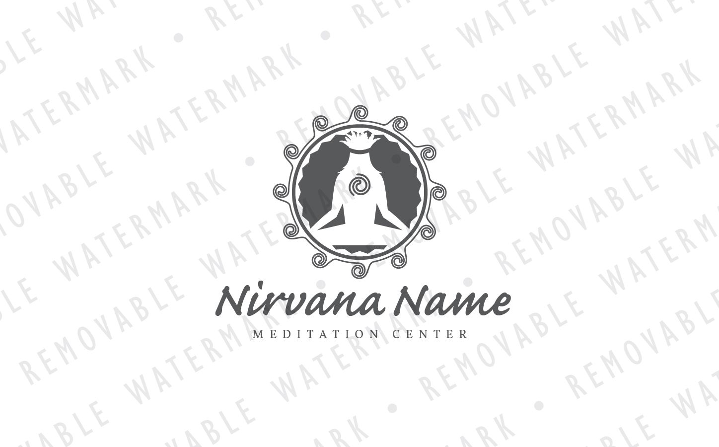 tribal meditation logo template 71237 logo templates templates tribal pinterest