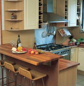 Keukenblad en bar van hout diverse interior pinterest for Zelf keukenontwerp maken