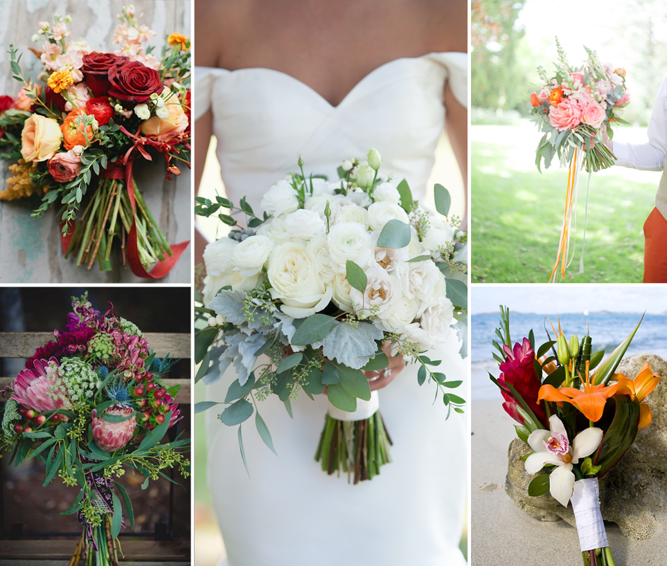 Types of Bouquets | Bridal bouquets, Floral designs and Wedding