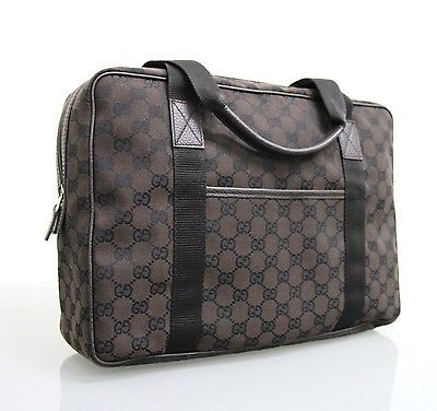 d9f8cf62d NEW Authentic GUCCI GG Canvas Tote Shoulder Laptop Bag Handbag 282529