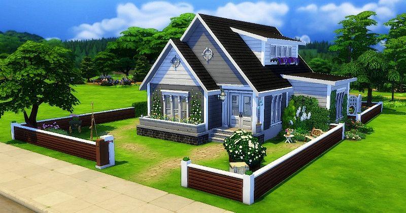 Danae Vue Exterieure Maison Sims Sims 4 Maison Et Sims