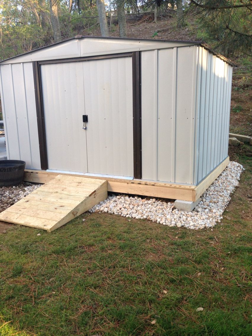 One idea i got from pinterest how to build foundation for for Garden shed on decking