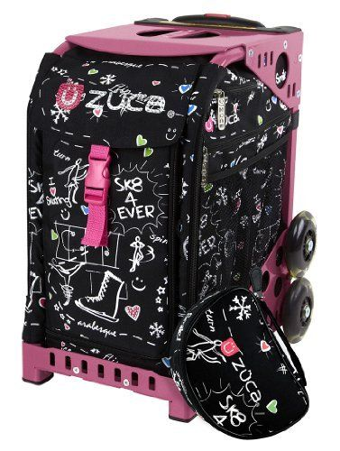 Zuca Limited Edition Rhinestone Embellished Sk8 Bag Pink