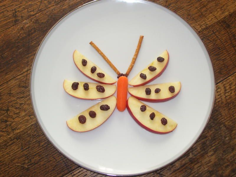 caedmon loves everything on here except carrots... but maybe she would eat one carrot if it was part of a butterfly!?!