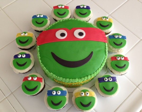 TMNT CAKE CUPCAKES For all your cake decorating supplies please