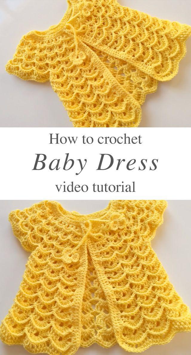 Crochet Baby Dress You Can Easily Make | CrochetBeja