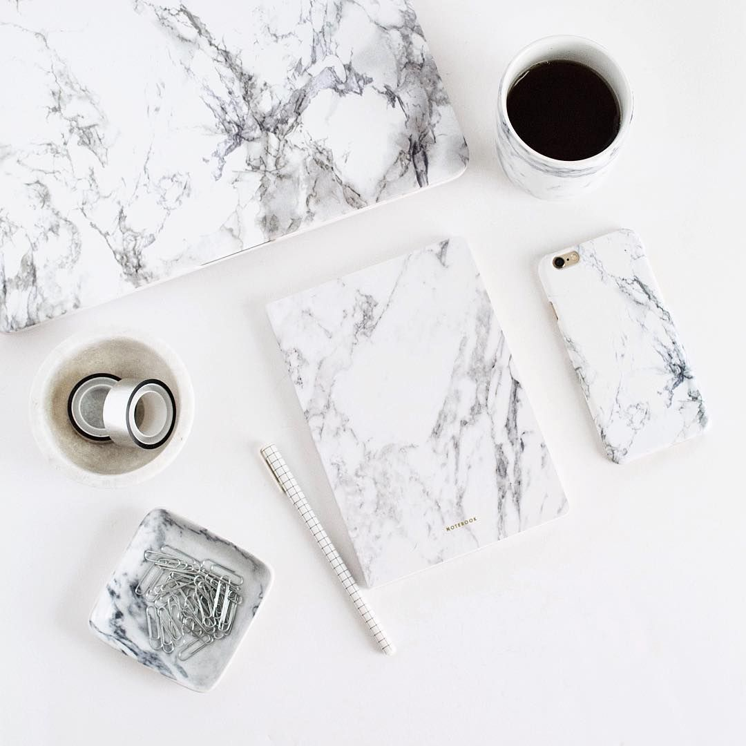 Marble laptop, marble bowl, marble tray, marble notebook, marble cup, marble phone.