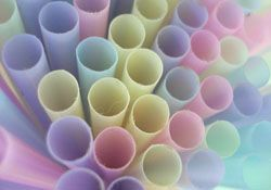 Pastel straws for a Pastel party