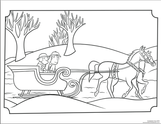Clive & Ian Christmas Sleigh Coloring Page (With images ...
