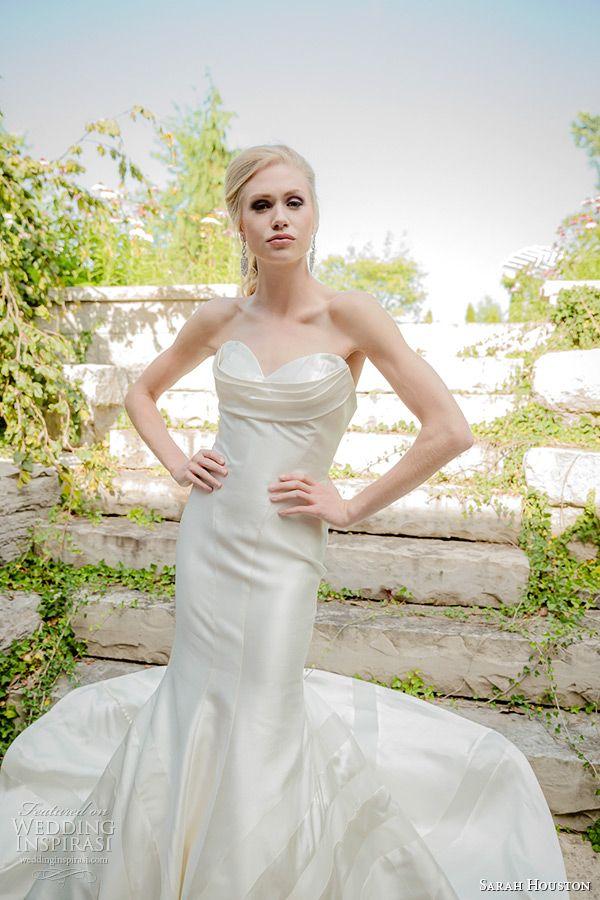 sarah houston 2015 bridal collection strapless sweetheart neckline fit and flare wedding dress garnet