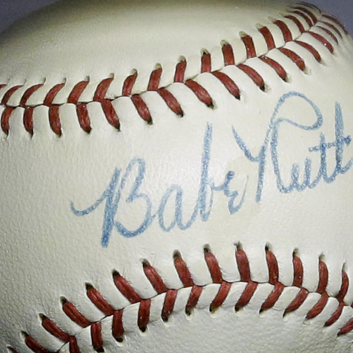 Ball signed by babe ruth 10 other baseball hof inductees