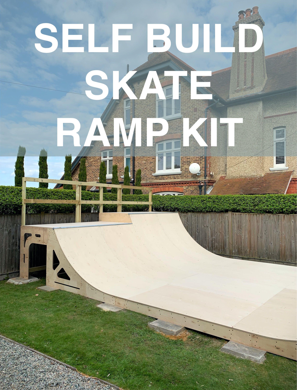 Diy Skate Ramp Kit Self Build Mini Ramp Skate Ramp Mini Ramp Skateboard Ramps Backyard mini ramp kit