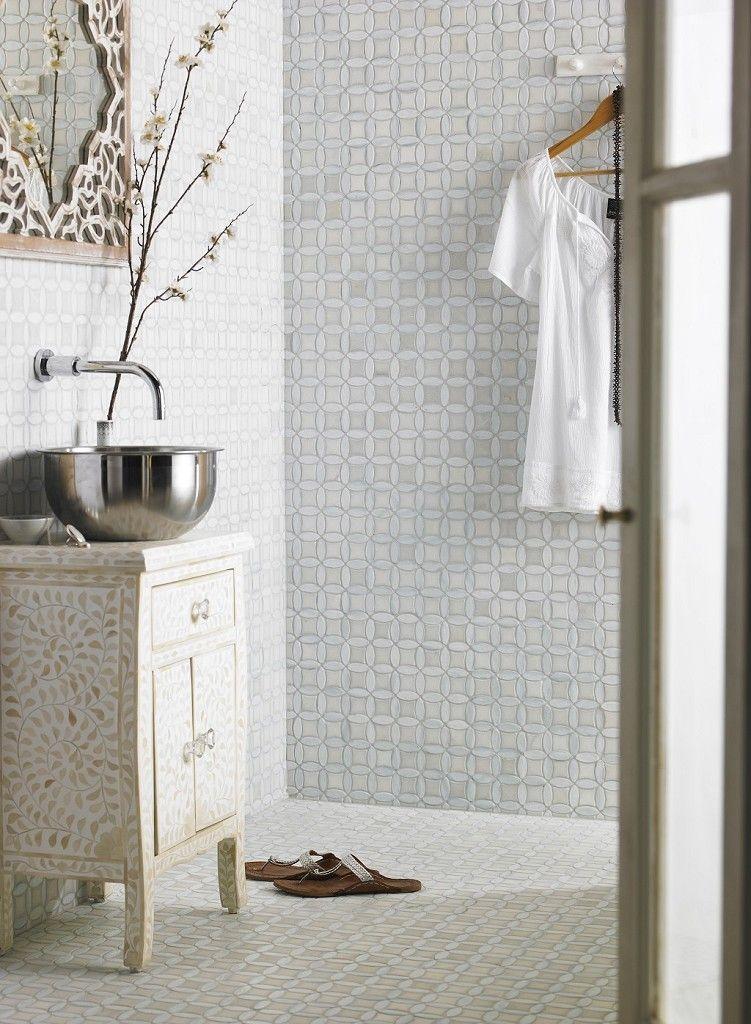 Monaco Pearl Mosaic Tile - lush! Bathroom Ideas Pinterest