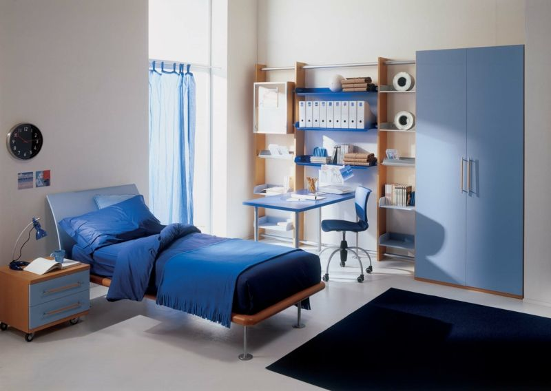 Jugendzimmer Komplett In Blau Fur Jungen Kinderzimmer Babyzimmer