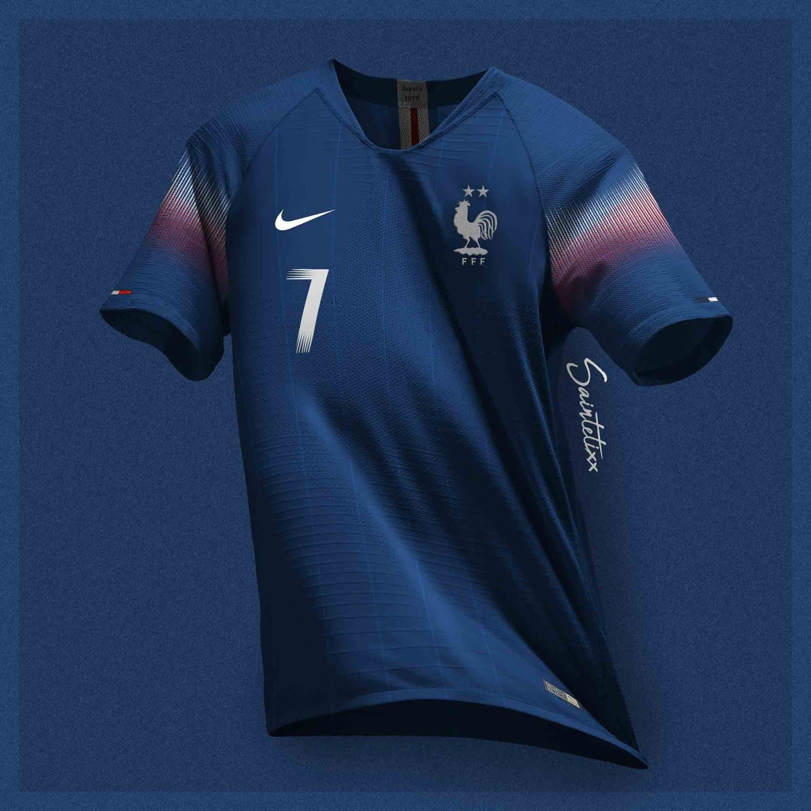 France 2020 22 Concept Kits By Saintetixx Footy Headlines Sports Jersey Design Soccer Uniforms Design Sports Shirts