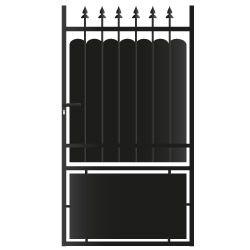 Portillon Fer Lila Coloris Noir L 1 X H 1 8 M Portillon Volet Pliant Fer