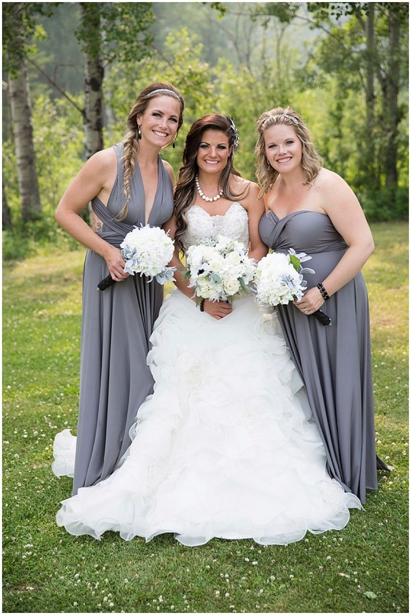 Black white and gray wedding grey weddings grey bridesmaid gray wedding attire convertible bridesmaids dresses photographer melanie bennett photography ombrellifo Gallery