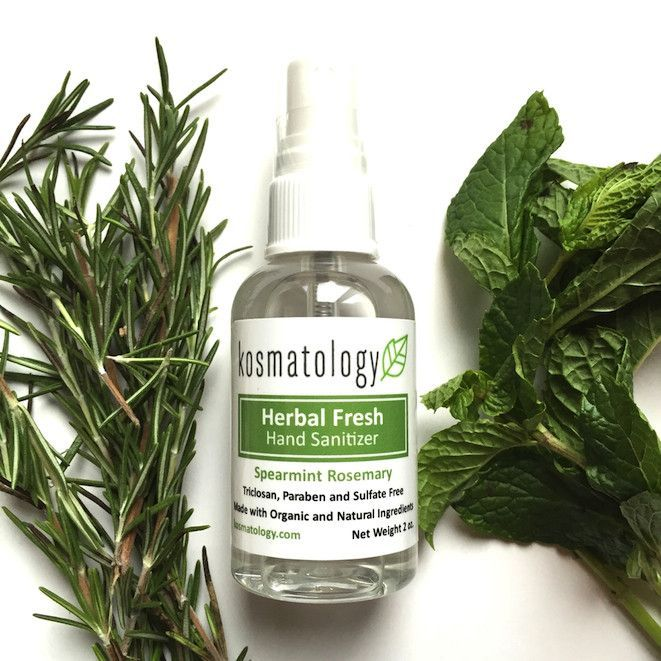 Herbal Fresh Hand Sanitizer By Kosmatology Non Toxic Hand