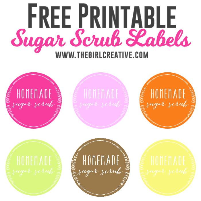 Free Sugar Scrub Labels Scrubs Sugar Scrub Diy Sugar