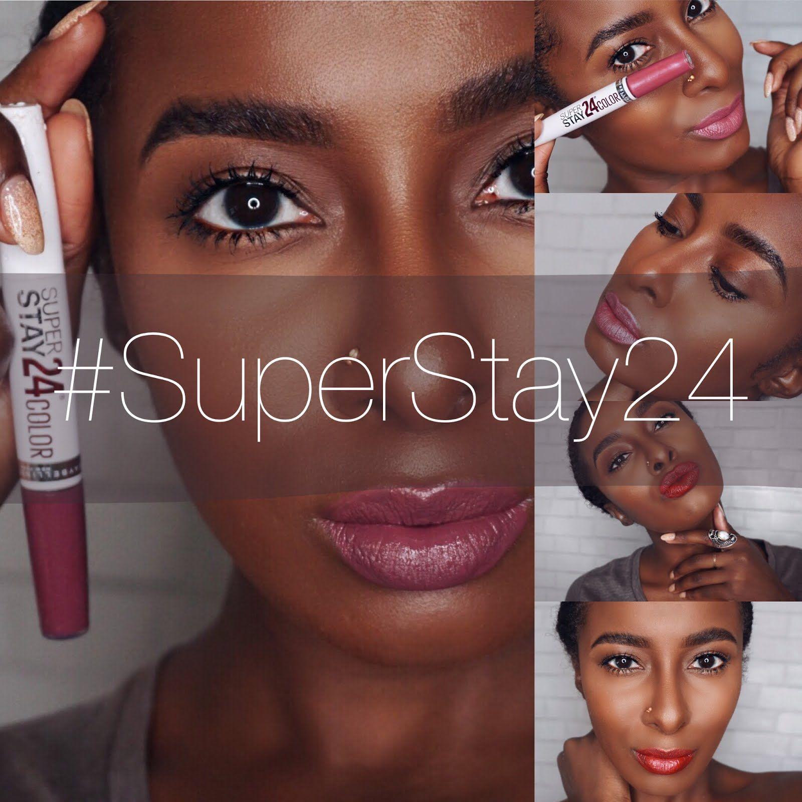 Beauty Fashion Xoxo: Xoxo-Brosia: MAYBELLINE NY'S SUPERSTAY 24 LIP SWATCHES